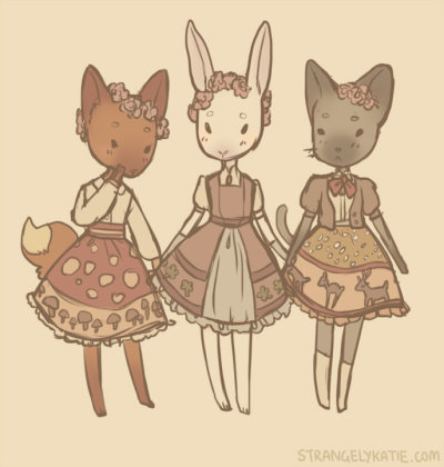 strangelykatie:  some woodland lolitanimals judging the fuck out of you.