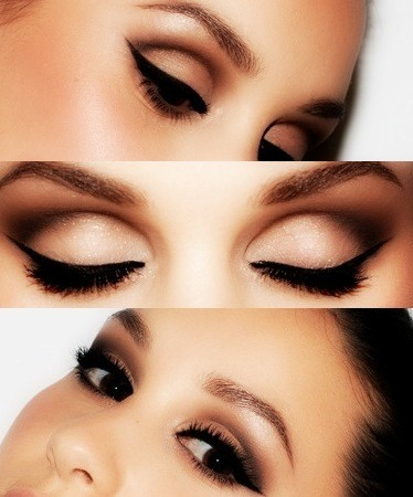 beautiful winged, cat eye…meow! latoyadmakeup:  Simple and beautiful look, cut that crease!
