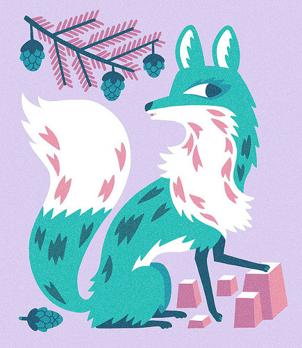 I'm Mrs. Fox artillustrationgood:  SPIRIT FOX (by Till Hafenbrak)
