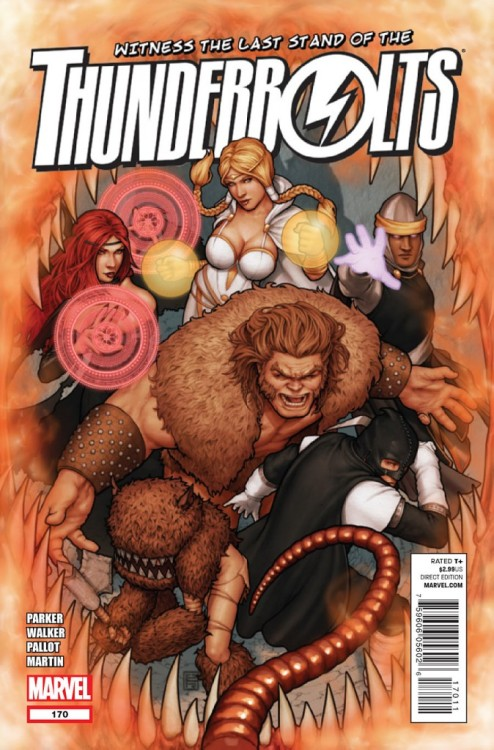 Thunderbolts #170, April 2012, written by Jeff Parker, penciled by Kev Walker