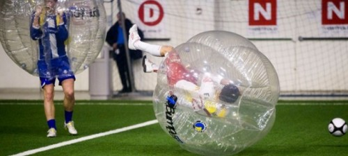 laughingsquid:  Full Contact Bubble Soccer  I have to do this