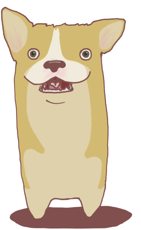 A little corgi I made that I named Porgy :)