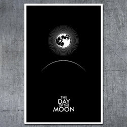 "poster with art inspired by ""The Day of the Moon"" episode of Doctor Who. These posters are not only fan-service, they are pieces of fine art. This poster features the image of the Moon broadcasting a signal to the Earth and surrounding Space; a central plot element in the episode. All Doctor Who inspired posters feature an icon that best represents the themes of an episode."