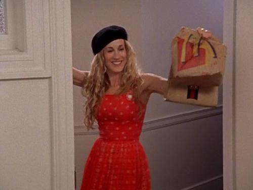 I love that Carrie eats fast food.