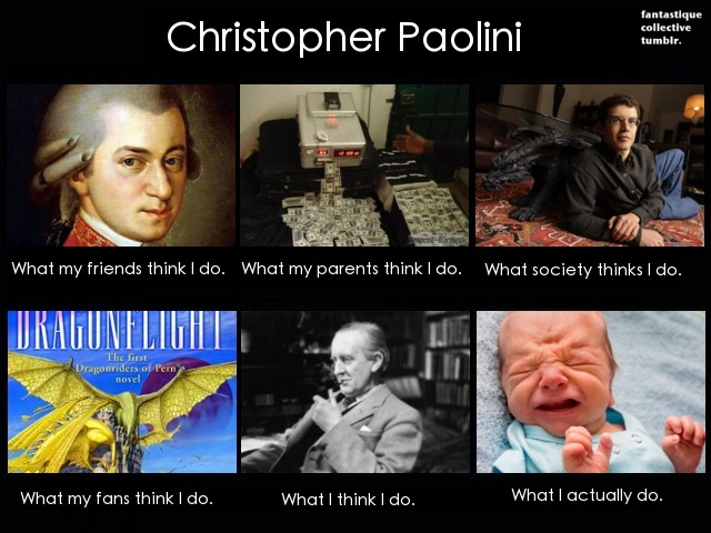 Christopher Paolini. What I do.