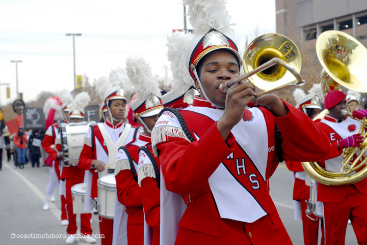 freezetimebmore:  Edmonson High School Marching Band MLK parade 2011