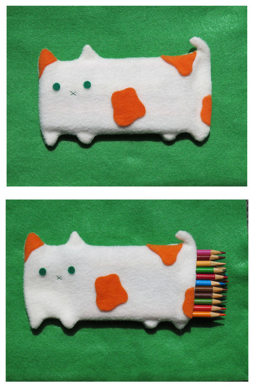 Cat Pencil Pouch 2 by ~uglykat