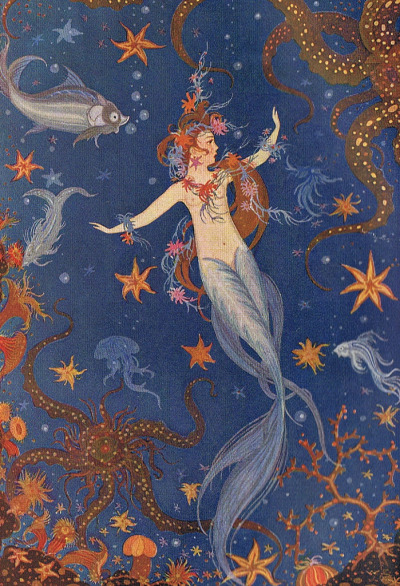 "fairytalemood:  ""The Little Mermaid"" by Wanda Zeigner-Ebel (1923)"