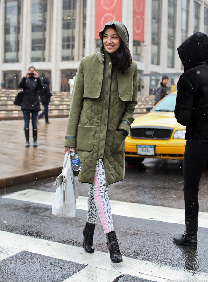 Caroline Issa at New York Fashion Week via leeoliveira.com