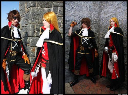cosplay-catwalk:  Another Harlock and Emeraldas shot | cosplay by *AmazonMandy