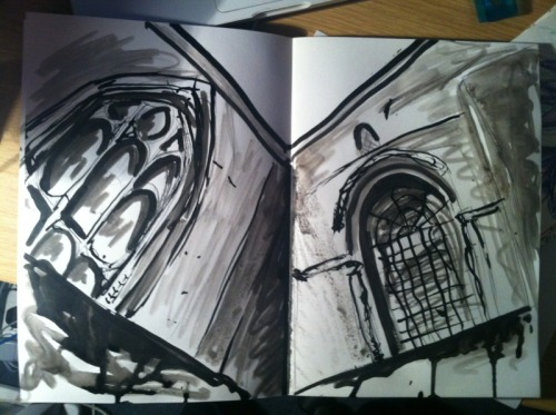 30 Minute Drawing  Ink and More ink Winchester Cathedral