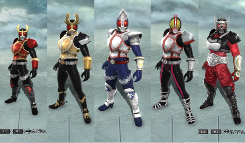 fuckyeahsoulcaliburcreations:  Kamen Riders - source: www.dotup.org boards  OMG YES!! YES!!!YESS!!