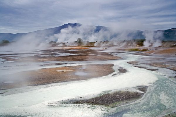 Did Life's First Cells Evolve in Geothermal Pools? Based on some fundamental characteristics of cellular proteins, a team  of scientists speculates that the last common ancestor of life on Earth  got its start in the planet's natural hot tubs. Earth started as a violent place, its surface churned by continuous  volcanic eruptions and cloaked in an atmosphere that would have been poisonous to today's life-forms.  Furthermore, the thin primeval atmosphere may have provided only scant  protection from the young sun's harsh ultraviolet glare. Given these  inhospitable conditions, scientists have long wondered: How did the first cells come to be nearly four billion years ago? Read More