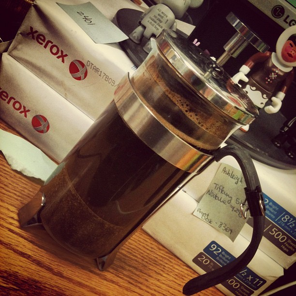(almost too) strong coffee.  (Taken with instagram)