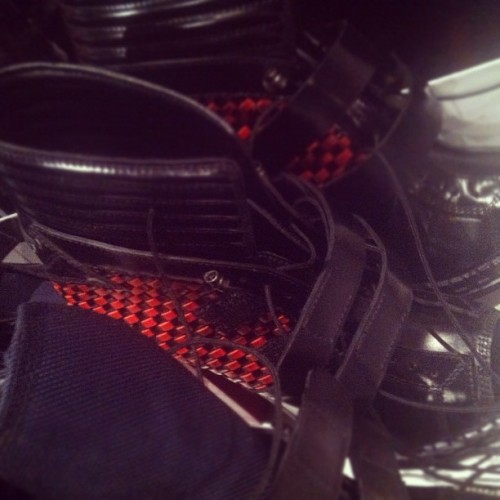 Shoes backstage at Proenza (Taken with instagram)