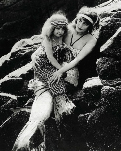 "Production still of ""Mermaid Land"" in the lost film A Daughter of the Gods (1916, dir. Herbert Brenon) (via)"