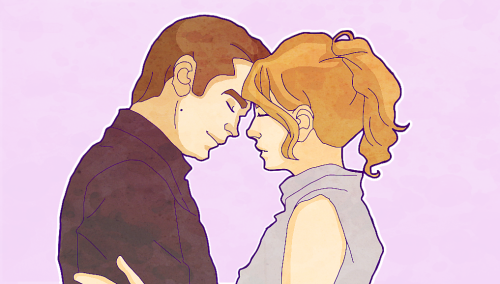 pjdiddy:  My first attempt at drawing Raylan and Winona.