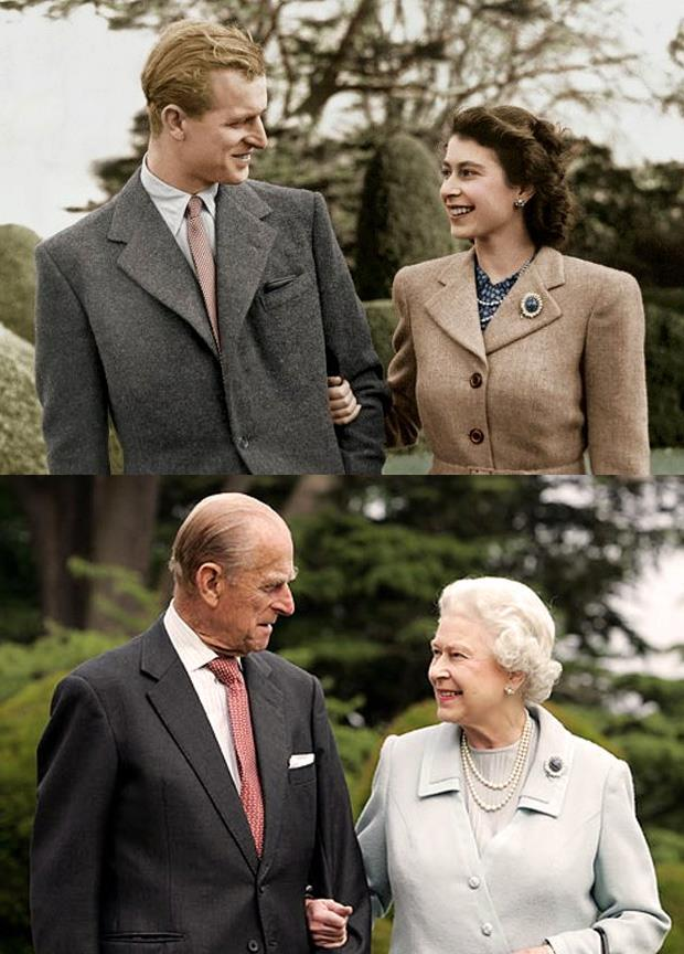 Queen Elizabeth II and Prince Philip Pictures like this gets to the remote sappy region of my heart.