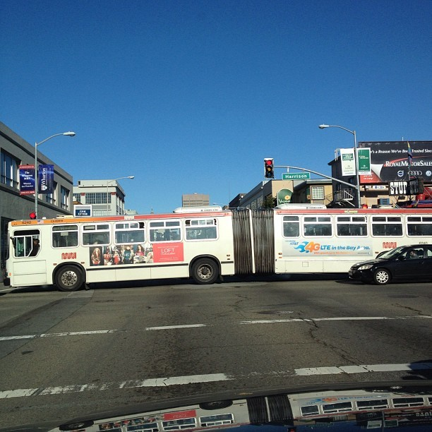 City Flow #SOMA #Muni #Bus #SF  (Taken with instagram)