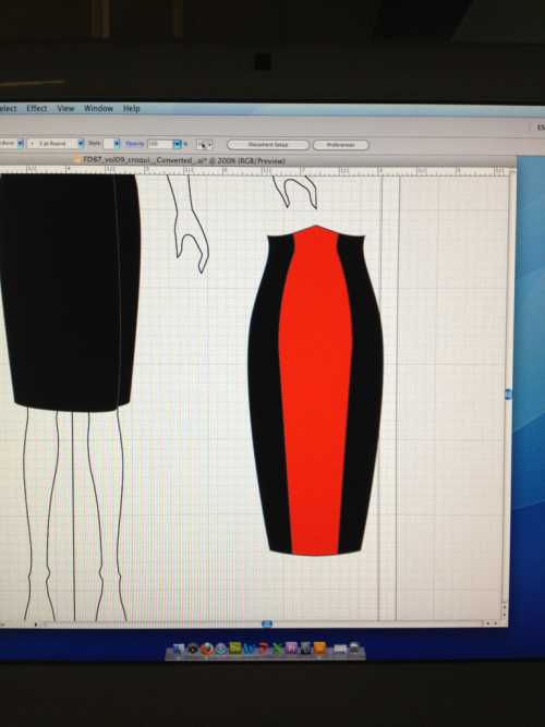 I think I'm starting to get the hang of Illustrator! Here's my Hesperus skirt from the Femme Fatale collection.