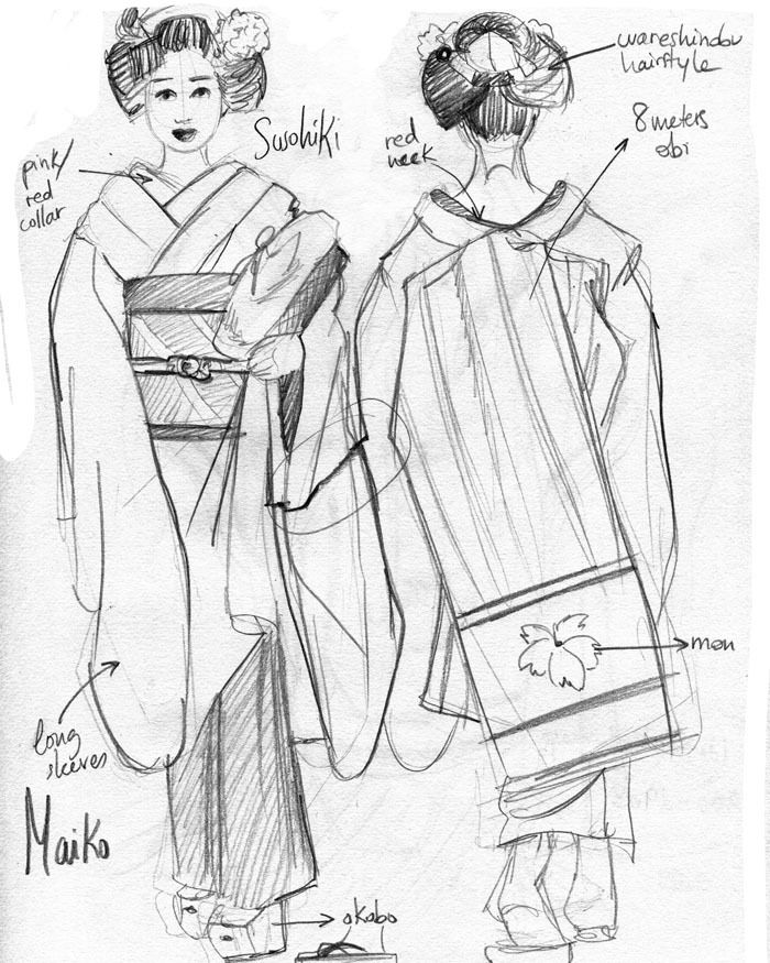 Maiko sketch by Cristina Dorda. 2012 all rights reserved.