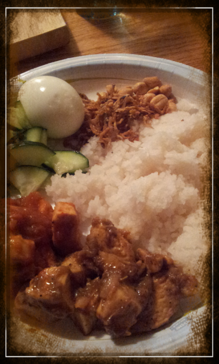 Made nasi lemak in Colorado. Feels like being in uni again! lol.  Taken with PicsArt.com Photo Studio.