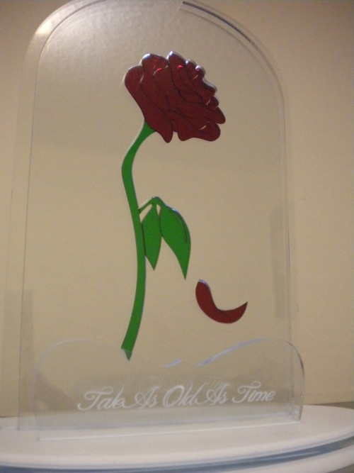blazerdesigns:  Valentine's Day commission, the floating rose from the Beauty and the Beast  Helped design this one. Check out my boy's stuff @ blazerdesigns.tumblr.com