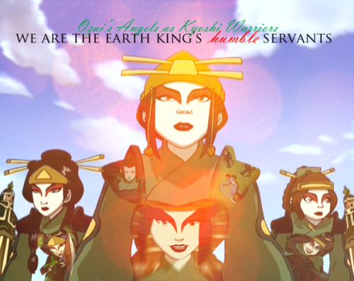 Avatar: Last Airbender 30 Challenge Day 21: Favorite Disguise Ozai's Angels as the Kyoshi Warriors.  I don't know why, but it was so cunning and amazing that its just my favorite.  Of course it meant something happened to the warriors, and it sucked that the Earth King blabbered everything to them, but it was a good trick on their part.