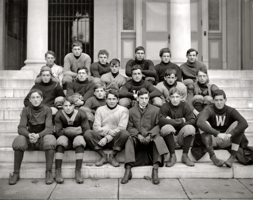 lostsplendor:  Western High Football, c. 1905 (via Shorpy Historical Photo Archive)