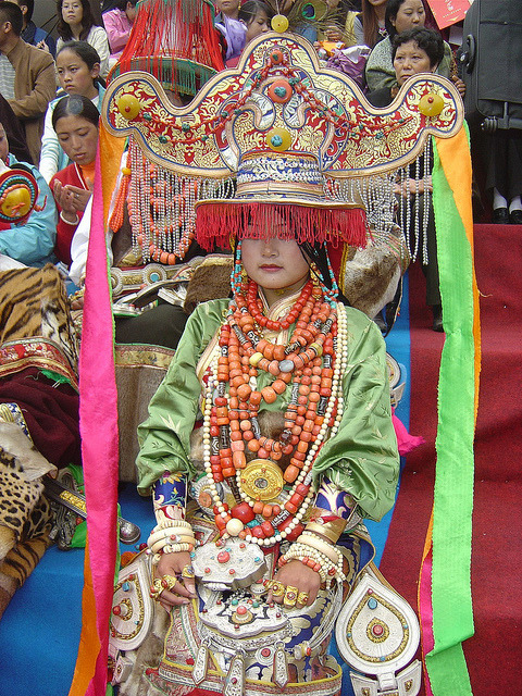 Ornamented Woman at 4th Khampa Festival in Kangding 2004 by BetterWorld2010 on Flickr.