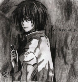 My charcoal drawing of Takizawa from Eden of the East <3