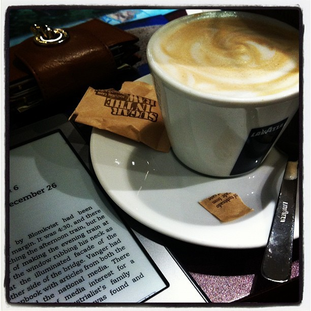 Cappuccino + Kindle (Taken with instagram)