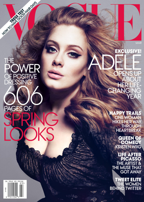 Wow Adele you've lost a lot of weight since the Grammy's…. what's your secret!?!?!  Chalk up another win for Photoshop