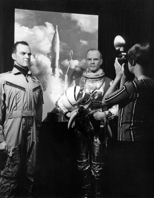 asonlynasacan:  From Retro Space Images - Cooper and Glenn wax figures.  It doesn't help that I have a creepypasta blog up in another window, but… this is hella creepy, y'all.