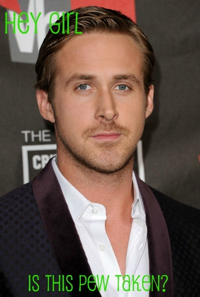 catholicryangosling:  Catholic pick up line from here