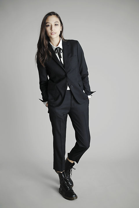 femmedandy:  Combat boots with a suit. SOMETHING ABOUT THIS WORKS GLORIOUSLY FOR ME.