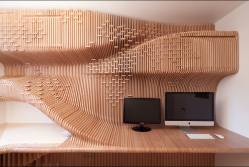 Wood Office by Synthesis Design