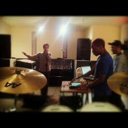 Practice with Bryan Ellis and @soundwavve. His EP is going to be CRAZY!! Fashion will never be the same  (Taken with instagram)