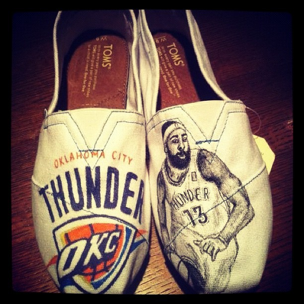 Why of course there's custom James Harden TOMS