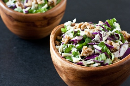 Lemon Honey Cabbage Salad with Walnuts