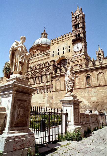 | ♕ |  Cathedral of Palermo, Sicily  | by © Howard Somerville