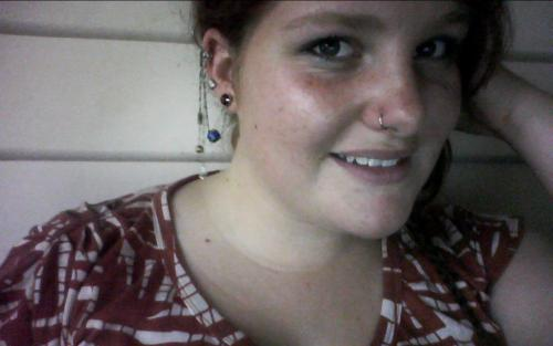 Just showin' off my new nose ring and a groovy ear cuff I made. In other news: It's humid as fuck today. Goddamnit Tasmania, didn't anyone ever tell you you were meant to be the sodding cold state of Australia?
