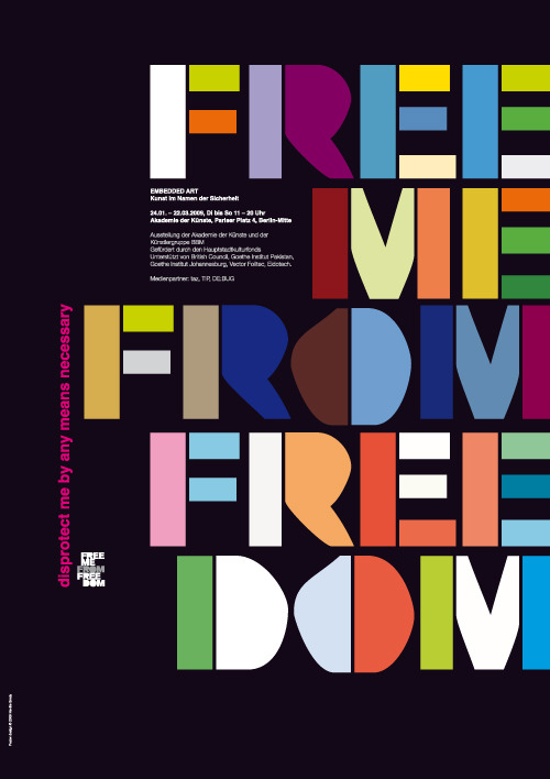 """FREE ME FROM FREEDOM"" Designed by Neville Brody (via Research Studios / Re:Search: Embedded Art)"