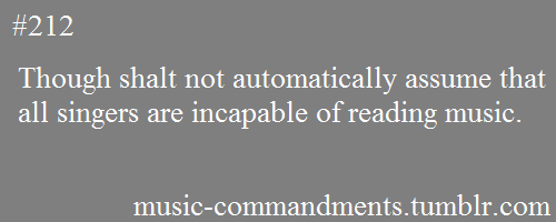 music-commandments:  submitted by: briefacquaintances  I have to assume they mean THOU cause otherwise I am soooooooooooo confused right now.