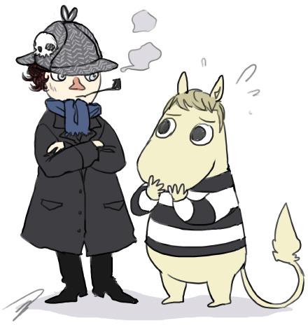 reapersun:  sherlockin and moominjohn waaat