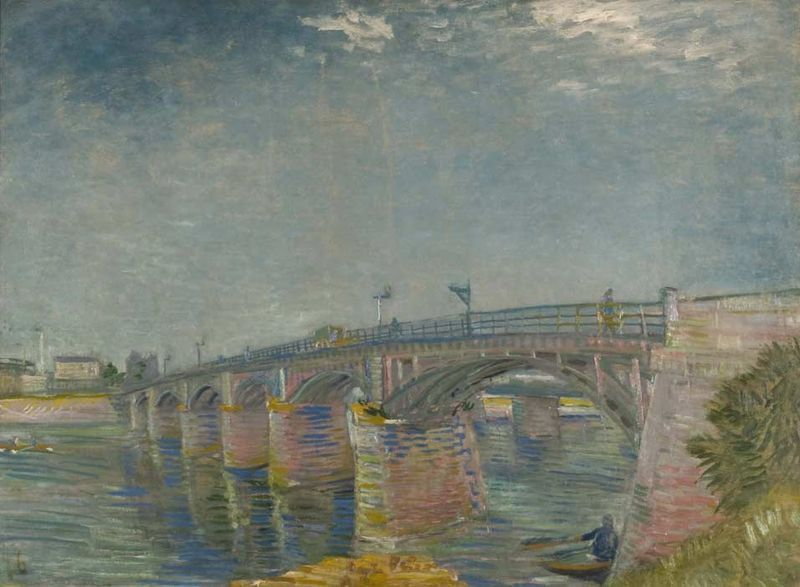 Vincent van Gogh, Bridge over the Seine at  Asnières, (Le Pont sur la Seine à Asnieres), 1887, Oil on canvas, 20 ¾ x  29 ½ inches, Private Collection, Photographer: Peggy Tenison via