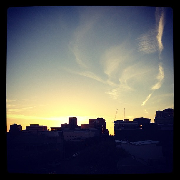 Stuck in Adelaide, watching the sun go down. (Taken with instagram)