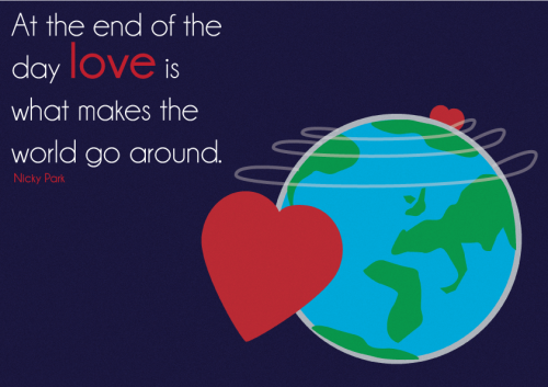 welovetowrite:  Love makes the world go around