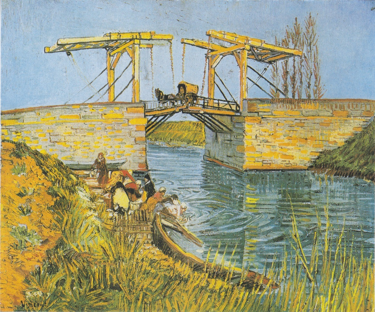 Vincent van Gogh, The Langlois Bridge at Arles with Women Washing
