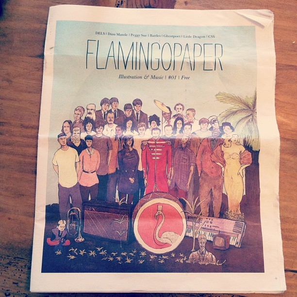 Love this magazine @FlamingoMag #illustration #music (Taken with instagram)